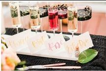 Drink / Personalize your event with signature cocktails or mocktails.  Don't forget the fun straw, swizzle, or garnish.
