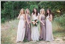 Bridal Style + Fashion / Dresses, gowns, and style for brides and their bridesmaids.