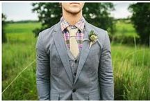 Groom Style: Bouts + Suits / Suits, accessories, boutonnieres, and everything a groom needs.