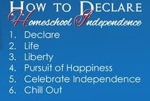Holidays - Patriotic Days / Helping homeschoolers stay RED, WHITE, and BLUE during the first few days of the month of July