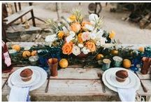 Coral + Orange Ideas / Orange and coral wedding and party ideas.
