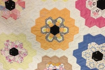 Hexagons Make Me Happy / I love hexagons and the different designs which can be made with this simple shape. / by Kate Ives
