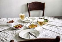 A place to eat / Celebrating the dining table, kitchen table, bistro table or simply a place to eat