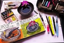 Art Journals and Mixed Media / by Kate Ives