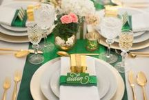 Emerald and Gold Wedding / My dream emerald and gold wedding, built upon pieces from Bari Jay dresses and Busy Bride Jewelry. #barijaybridesmaids #busybridejewelry. / by Kate Finn