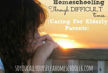 Sandwiched Homeschoolers / When you find yourself caught between raising your family and taking care of elderly parents, these resources might be helpful.