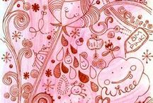 Doodles  / doodles..tangles...scribbles / by Jenny Collins