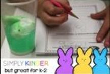 Easter in the Classroom / Welcome to Simply Kinder's Easter in the Classroom Pinterest Board. This board will contain teaching ideas, printables, art projects, curriculum, lessons, and activities for teaching calendar. Ideas are geared towards preschool (pre-k), kindergarten, and first grades!  Simply Kinder a teaching blog all about teaching kindergarten!