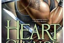 Heart Change / #8 in the Heart series.  Signet D'Marigold, catalyst, heroine.  Cratag Maytree, warrior/bodyguard, hero.