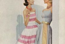 """1950s Fashion/Beauty / Christian Dior is symbolic of 1950s fashion. Women in the early 1950's were craving a more elegant, sophisticated look compared to the militaristic looks of the 1940's ( WWII and post war styles).Fitted jackets, nipped waists, form fitting """"wiggle"""" skirts, shirtwaist dresses, form fitting dresses.& sexy swimsuits were all the rage. Sexy, glamorous actresses ruled (Marilyn Monroe, Ava Gardner, Grace Kelly, Audrey Hepburn & Elizabeth Taylor). / by Laura Wyeth"""