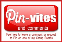 Invites and Comments / If you would like to be be able to Pin on one of my Group Boards please leave a comment below. NOTE: not everyone will be accepted ad a Pinner and no correspondence will be entered into. No spamming, no excessive Pinning, No directing to spam pages, no inappropriate behaviour. Anyone deemed not suitable will be removed without notice. These Boards are meant for the enjoyment of the community, thank you.