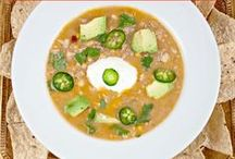 Soup's On! / Our favorite healthy and delicious soup recipes!  Most are easy to make in the Slow Cooker and Totally Freezable .  If your refrigerated or frozen homemade soup gets too thick, just add water or chicken broth to taste!    / by Valerie Hoff DeCarlo