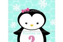 Penguin Birthday Party / penguin winter snow birthday party