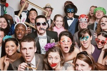 Photobooth Fun! / Photobooths are one of the most popular trends in weddings today. Add personality with props!