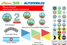 Planes, Trains & Automobiles Transportation Birthday / Airplanes, trains, cars, trucks, helicopters & more. Transportation birthday party ideas perfect for a little boy!
