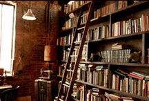 """Interiors: Library / """"Libraries are not made; they grow. Good as it is to inherit a library, it is better to collect one.""""  ― Augustine Birrell"""