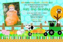 Fall Birthday & Baby Shower Invites / Fall themed invites for birthdays and baby showers