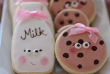 Cookies and Milk Pink Party / Pink Brown Cookies & Milk Birthday party or baby shower.