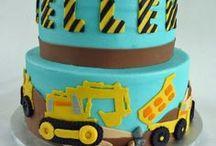 Construction Yellow & Aqua Blue Party / Construction yellow gold aqua blue birthday party for boys!