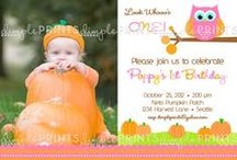 Fall Owl Pumpkin Girl Birthday Party