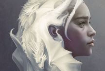A Song of Ice and Fire / Game of Thrones, Clash of Kings, Storm of Swords, Feast for Crows, Dance with Dragons, Winds of Winter and Dream of Spring / by Chenoa ManyColours