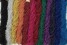 Mardi Gras Beads / Colorful Authentic Mardi Gras Beads for parades, carnivals, Halloween treats, Christmas stocking stuffers, Student awards, Treasure chests, Favor Bags, Colorful accents, Bead Craft Projects, etc...