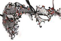 Masquerade Masks for Couples / Fabulous coordinating masquerade masks for parties, proms, dances, masquerade balls available at MardiGrasPartySales.com