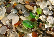 Glass Beach / Glass Beach is a real beach in Fort Bragg, California. Why so much glass? It once used as a trash dump for decades.