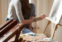 Lifestyle: arts&crafts / Inspirational board with lovely and interesting images related to arts and crafts.