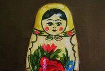 dolls, russian matryoshka