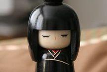 dolls, japanese kokeshi