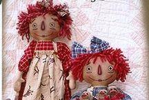 dolls, primitive, raggedy ann