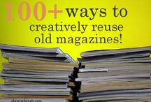 Make something of old magazines books and newspaper
