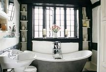 Bathrooms / Actually all the bathrooms in our lovely old house need makeovers...one at a time! ah. / by Heather Nic