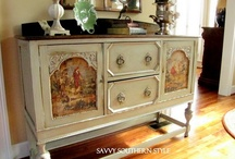 Paint and decoupage furniture / by Maria G