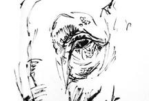 Bocetos y apuntes personales / Páginas de mis cuadernos, compañeros inseparables.