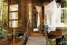 Treehouses are the coolest / by Heather Harris