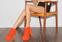 Orange Shoes.