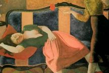 Balthus / Polish-French Modern Artist.  Many of his paintings show young girls in erotic content.