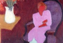 Milton Avery / Avery was thought of as an American Matisse.   His work is representational and focuses on color relations.  An abstract painter.