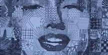 Chuck Close, American Photo Realist, creatively blurred distinction between photograph and painting