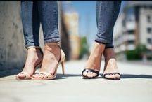 open toe shoes.
