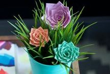 Flowers | Duct Tape Crafts / Learn how to create cute duct tape roses and flowers that are perfect for making pens and bouquets.