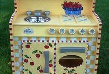 Play Kitchen Ideas / by Tina Avery