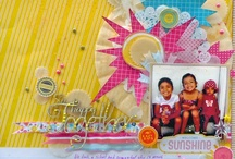 COLOR: YELLOW ON SCRAPBOOK PAGES