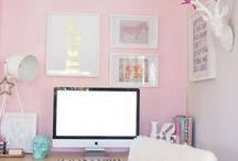 Work spaces / Office space decor.