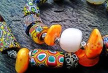 Jewelry and beading work upcycling recycling and handmade in Ghana / #Upcycling #recycling #handmade #jewelry  #krobo #beads from #Ghana, #Africa and somewhere with #trade #beads from Italy, Bohemia. Seeds, wood, bambou, shell, stone