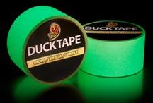 Glow in the Dark Duct Tape / Give your DIY, craft or repair projects an added glow with glow-in-the-dark duct tape. This tape is great for anything around the house or outdoors that needs to be seen in the dark, and it's perfect for adding details to Halloween decorations or trick-or-treat bags. Try it for crafting, school assignments, or other permanent applications – the possibilities are endless. / by Duck Brand