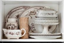 The China Hutch: Collections & Styling / Beautiful china, transfer ware, pottery, ironware & more.   / by Carrie Hampton | LifeStyleFiles