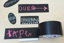 Dry Erase & Chalkboard Tape / Made for the craft-lover in all of us, Duck® brand chalkboard tape and dry erase tape can help turn almost any hard surface into a writable one. Label items, write down your ideas or simply create a to-do list — then easily wipe clean and start again. Whether it's back to school projects, home organization or personalized décor, chalkboard tape is the perfect way to express your creative side.